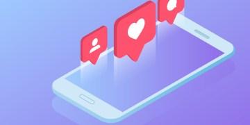 celular com simbolos do instagram