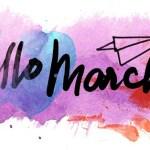 imagem escrita Hello march
