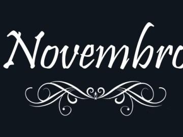 imagem escrita novembro com o fundo preto