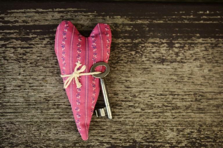 coração com chave