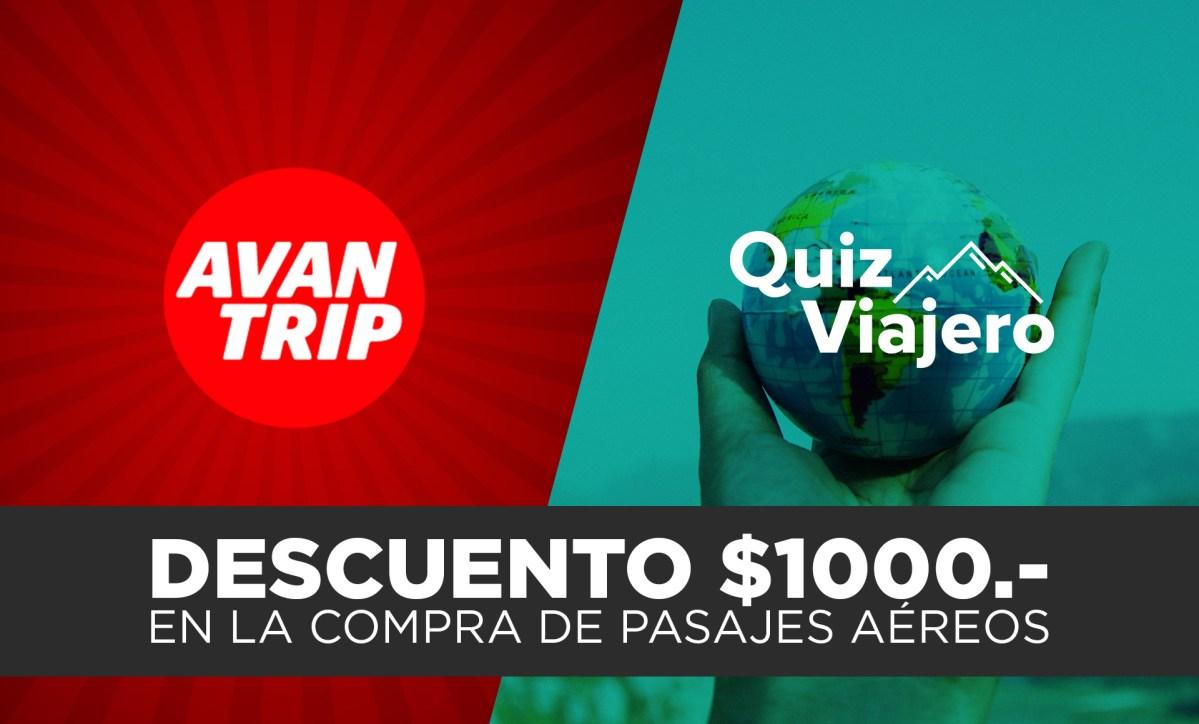 DESCUENTO DE $1000 para compras de pasajes aéreos con AVANTRIP