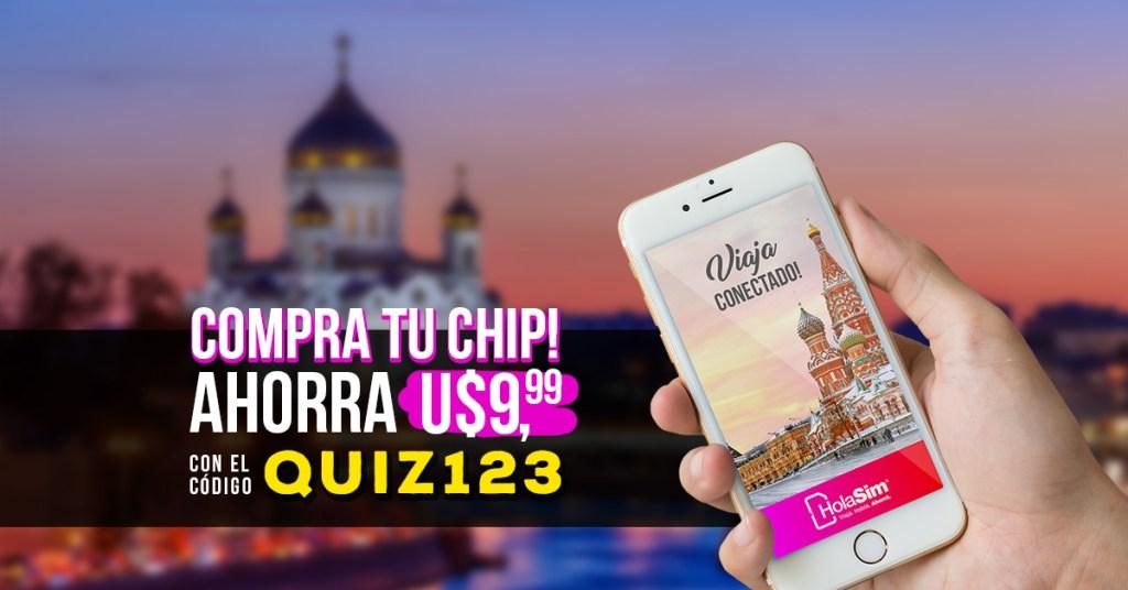 hola sim, rooming internacional, internet, quiz viajero, quiz123, descuento, chip gratis