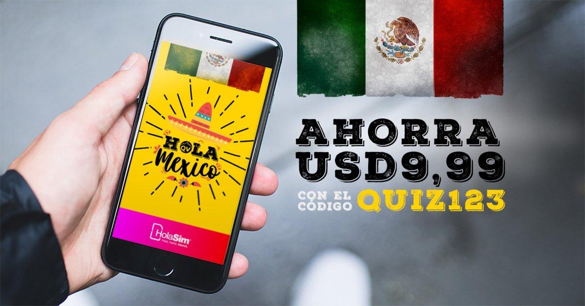 Internet fuera de México: CHIP GRATIS con cupón QUIZ123