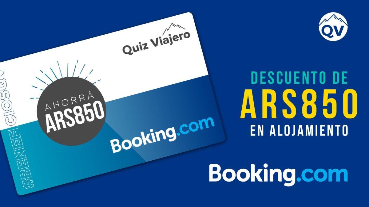 DESCUENTO DE ARS850 EN BOOKING