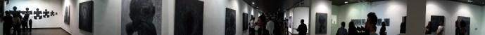 Photo panoramique de l'expo, prise vers la fin.