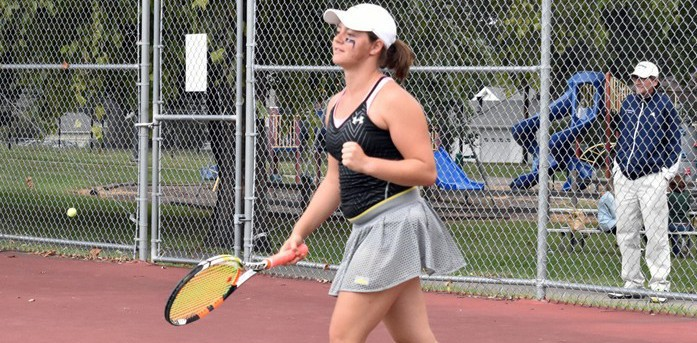Lady Hawks Win Two Matches in Iowa