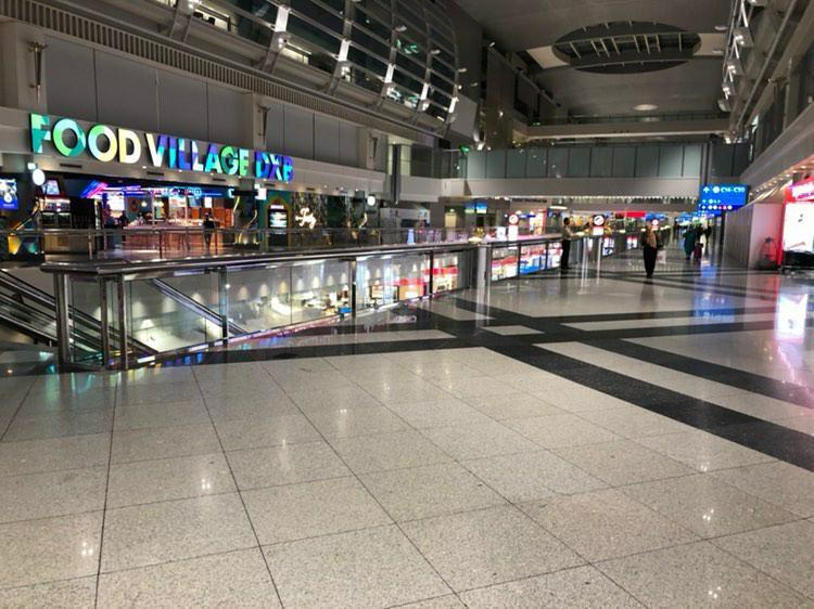 Virtually empty Dubai National Airport