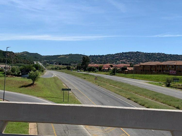 Empty road in Johannesburg, South Africa