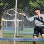 Samuele Contestabile completes a forehand shot.