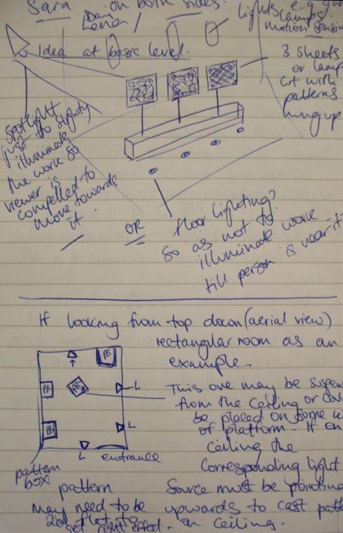 Page 1 of sketches and notes