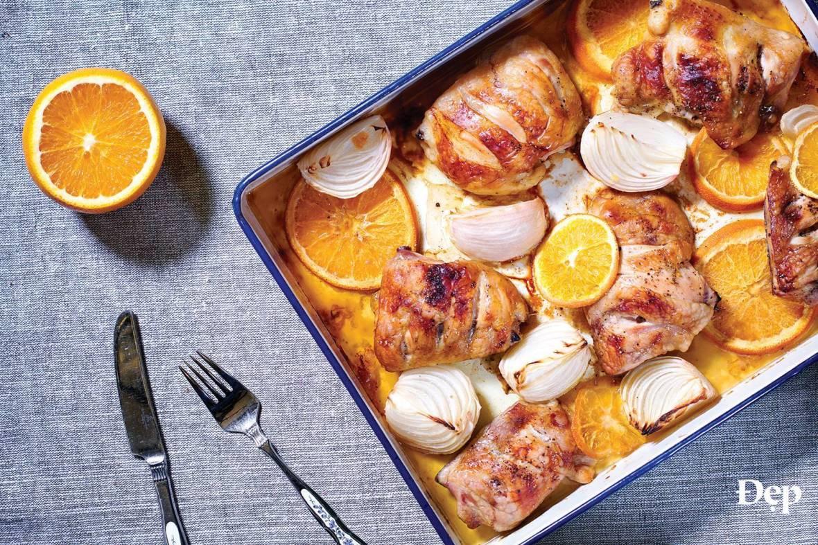 Công thức món gà nướng cam