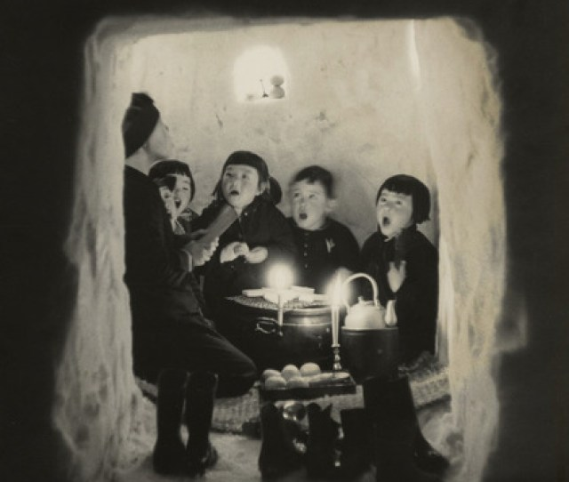 Fig 4 Children Singing In A Snow Cave Niigata Prefecture 1956