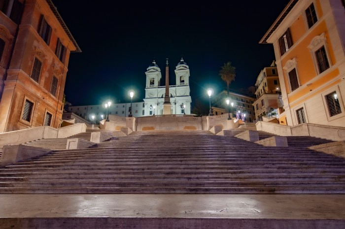 The Spanish Steps in Rome - A few minutes from QuodLibet bed and breakfast