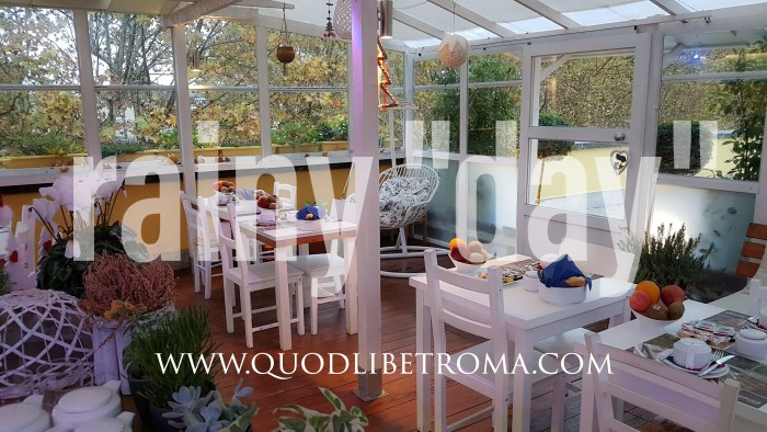 Rainy day in Rome at QuodLibet bed and breakfast