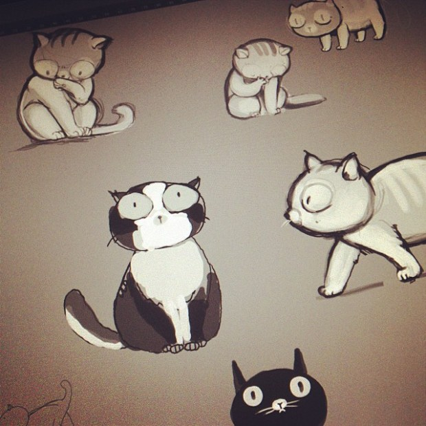 Don't be sad, draw kittens instead.  #cats #dailysketch #quokkastudio