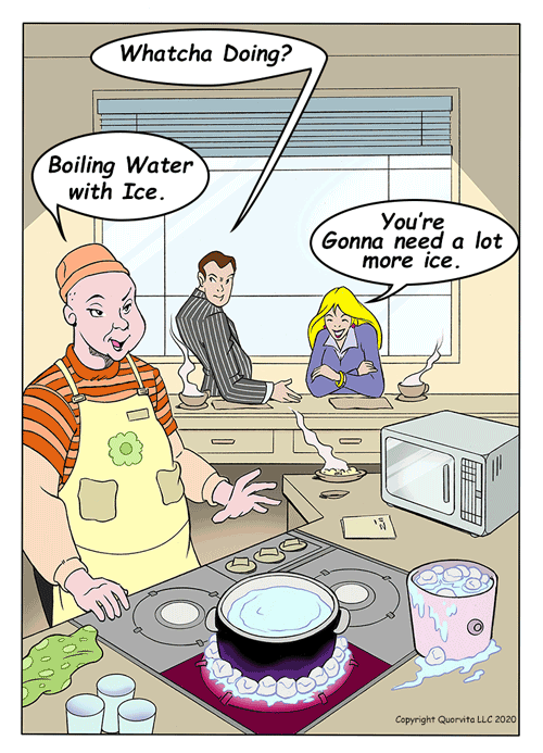 Ice will Not Boil Water