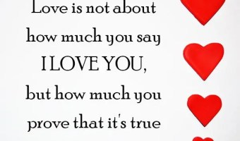 Love is how much you prove that you love your partner