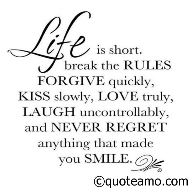 Life Is Too Short Quote Amo