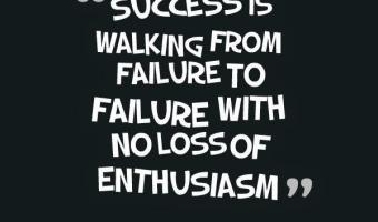 Success is walking from the failure