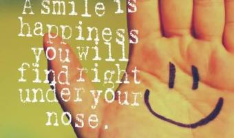 A smile is happiness you will find