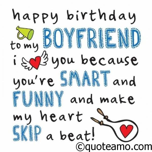 Happy Birthday To My Boyfriend Quote Amo