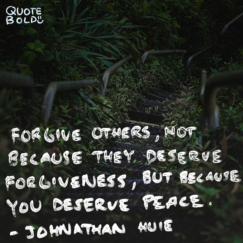 peace mind quotes forgive because