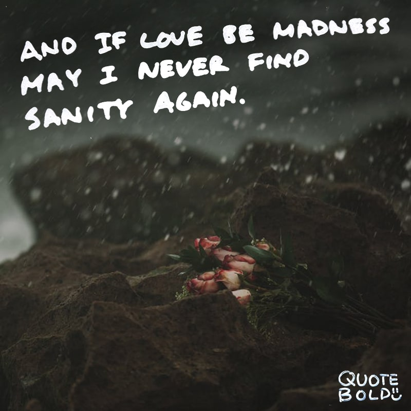 love quotes if love be madness