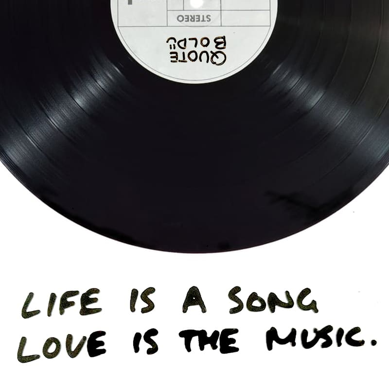 love quotes live is a song