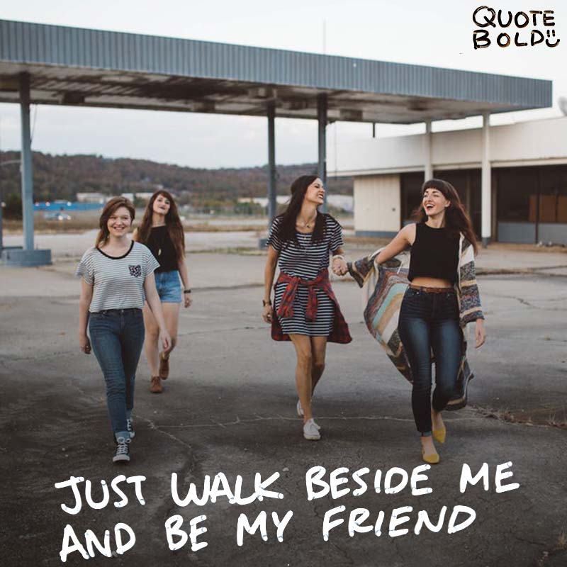 """best friend quotes image - Albert Camus """"Don't walk behind me; I may not lead. Don't walk in front of me; I may not follow. Just walk beside me and be my friend."""""""