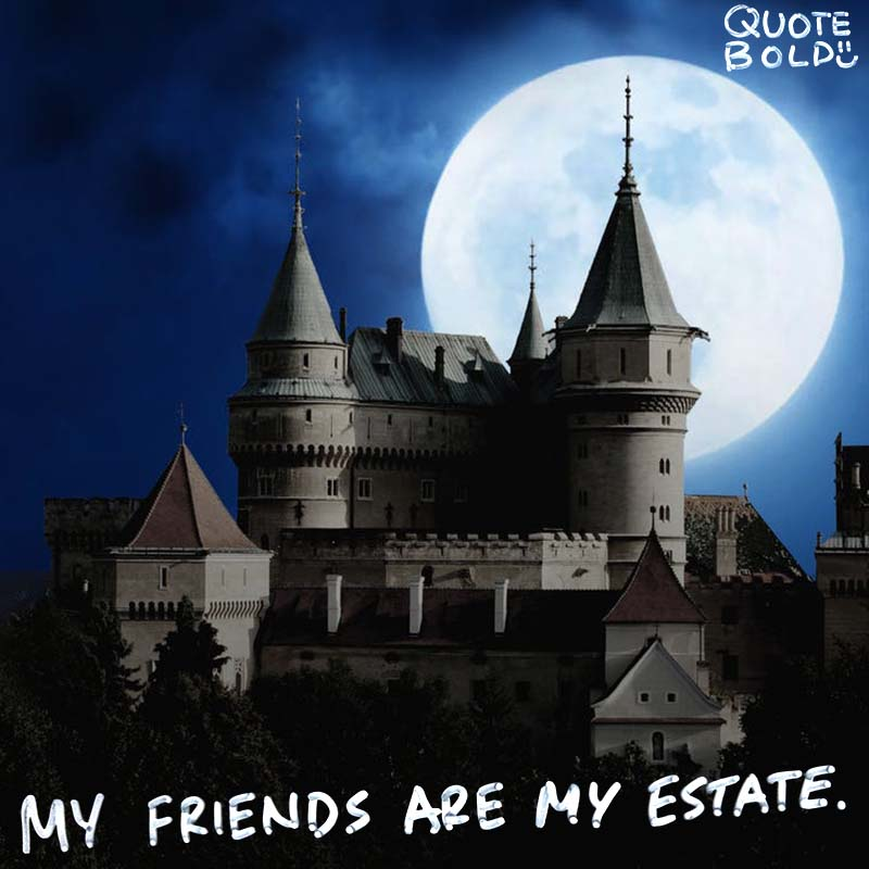 """best friend quotes image - Emily Dickinson """"My friends are my estate."""""""