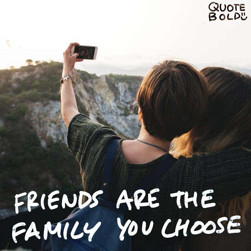 """best friend quotes image - Jess C Scott """"Friends are the family you choose"""""""