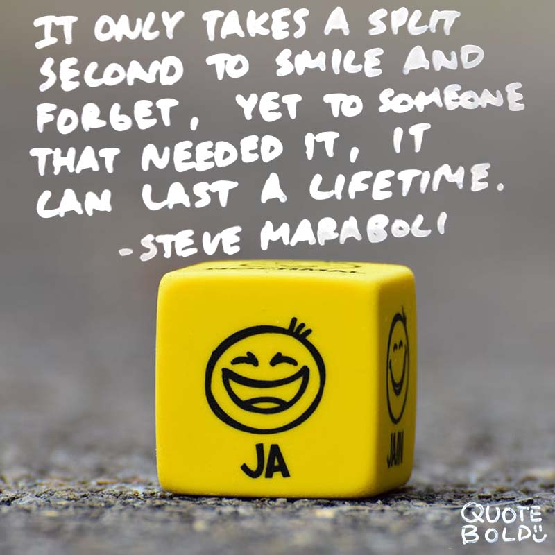 """kindness quotes - Steve Maraboli """"It only takes a split second to smile and forget, yet to someone that needed it, it can last a lifetime."""""""