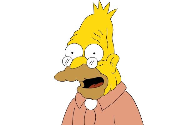 grandpa simpson - Abe Simpson - Money can't change people...