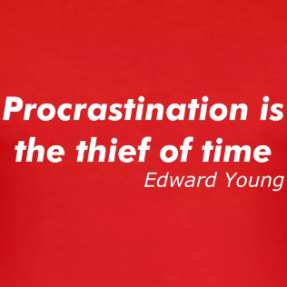procrastination quote tee shirt zoom - About Us