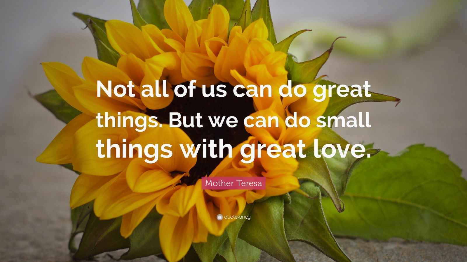 """Mother Teresa Quote: """"Not all of us can do great things ... on Outstanding Things  id=21752"""