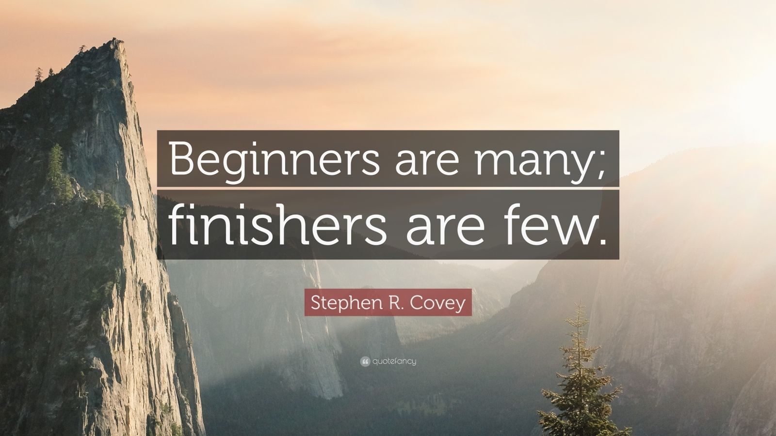 Stephen R Covey Quote Beginners Are Many Finishers Are