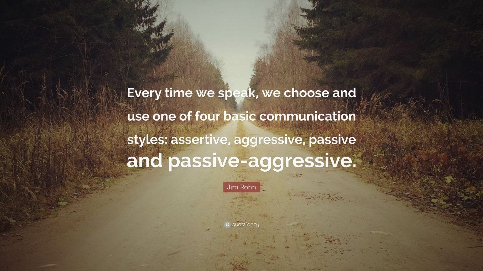 Jim Rohn Quote Every Time We Speak We Choose And Use