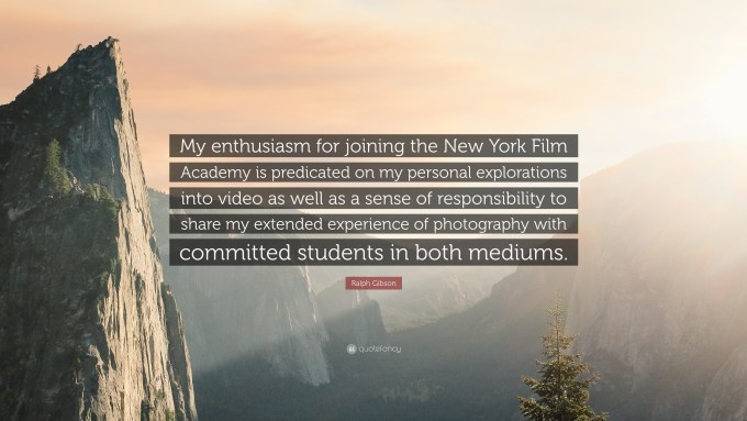"ralph gibson quote: ""my enthusiasm for joining the new york film"