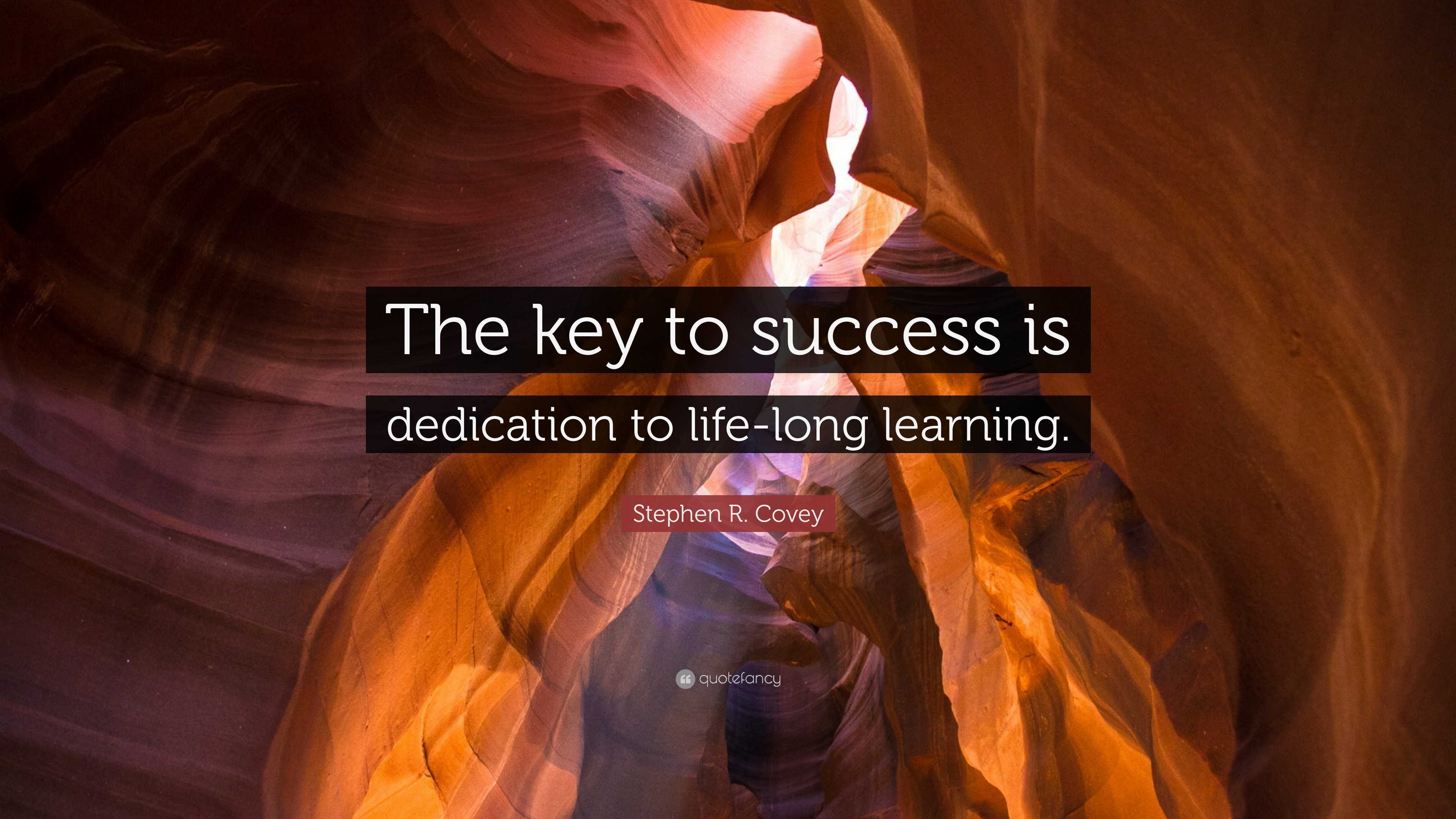 Stephen R Covey Quote The Key To Success Is Dedication