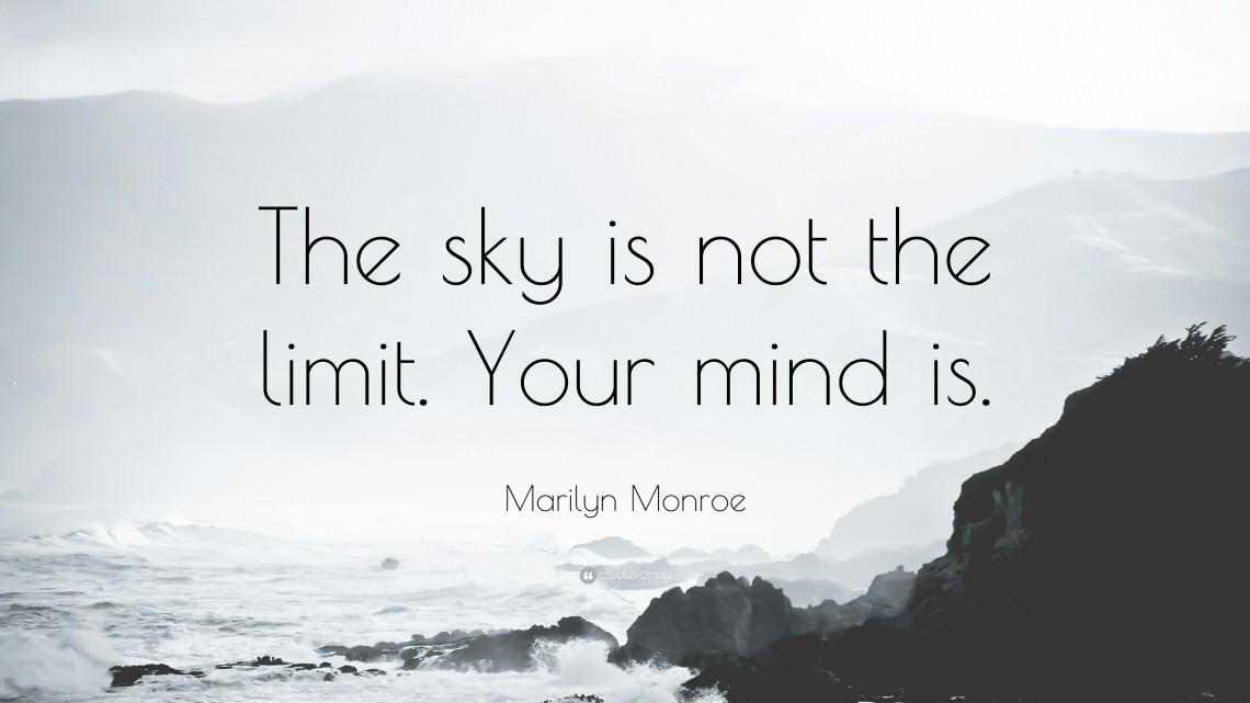 Znalezione obrazy dla zapytania the sky is the limit