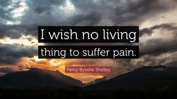 """Percy Bysshe Shelley Quote: """"I wish no living thing to ..."""