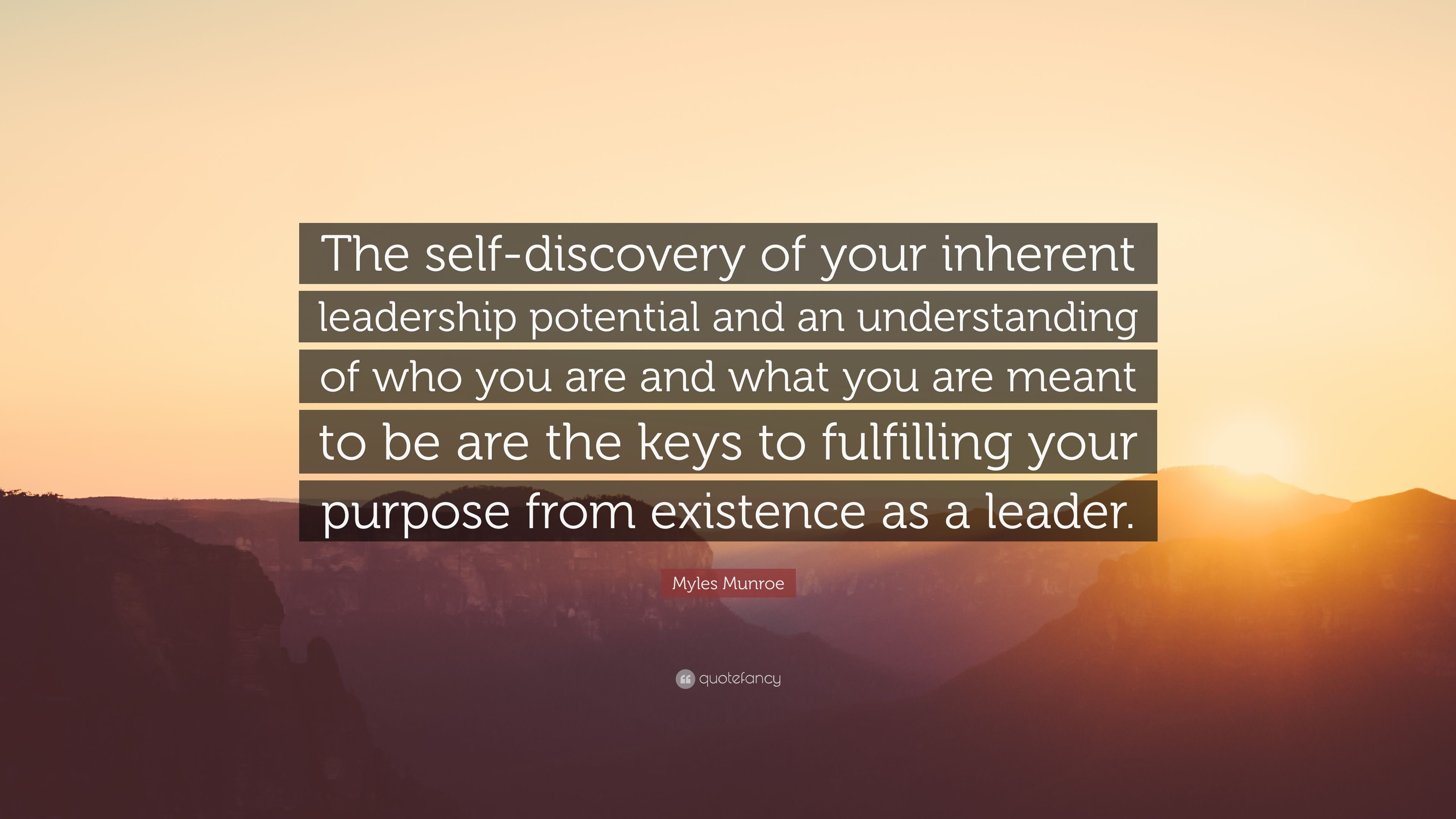Myles Munroe Quote The Self Discovery Of Your Inherent