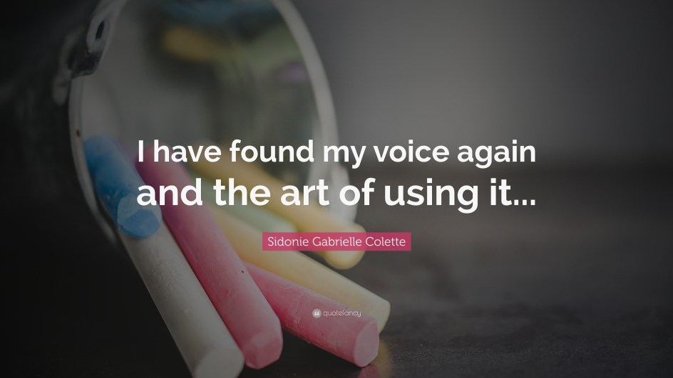 Image result for i found my voice