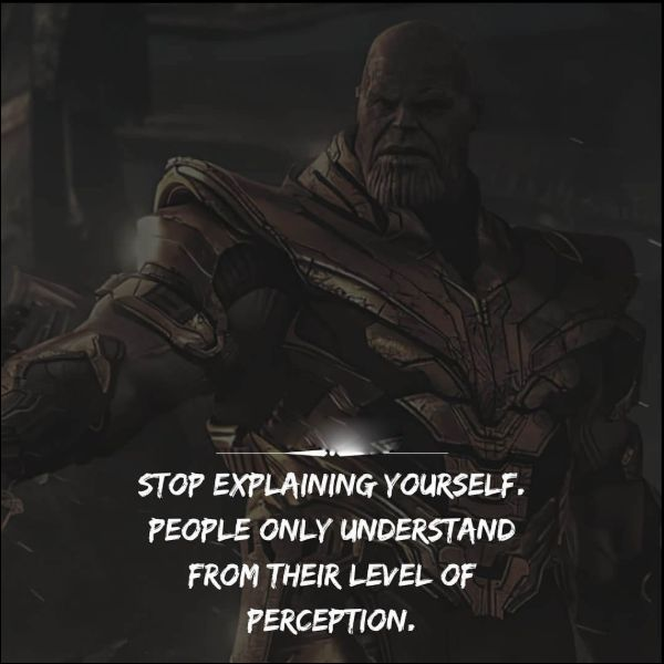 thanos quotes run from it