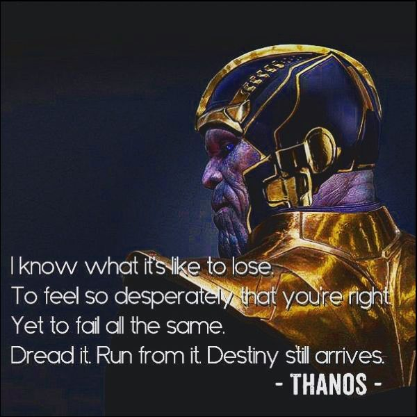 thanos infinity war quotes