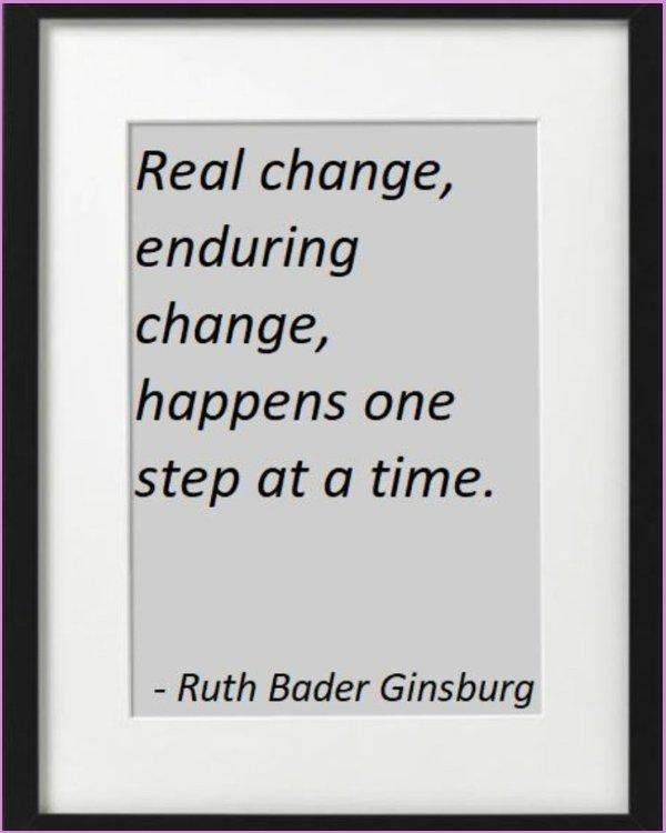 ruth bader ginsburg quotes change