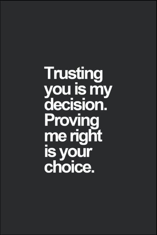 where there is no trust quotes