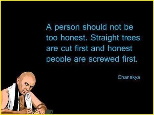 chanakya quotes straight trees