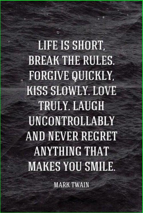 mark twain quotes life is short