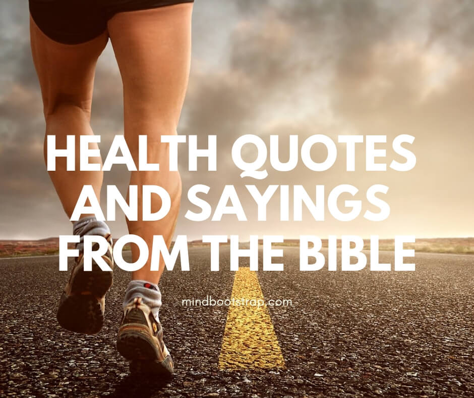 Health Quotes and Sayings from the Bible